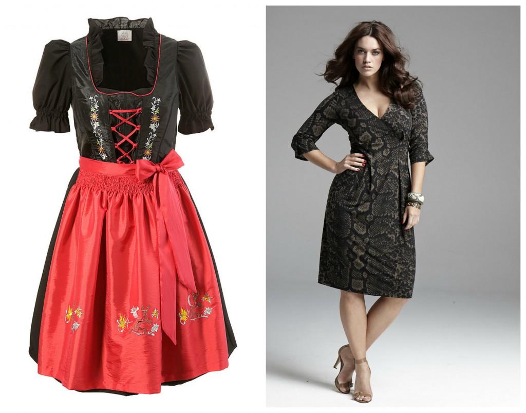 Plus-Mode aus dem Angebot von Otto … ich liebe sowohl das Dirndl als auch das Anna Scholz-Kleid …
