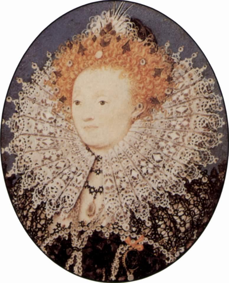 Elizabeth I von England, Portrait von NIcholas Hillard (c) Wikicommons